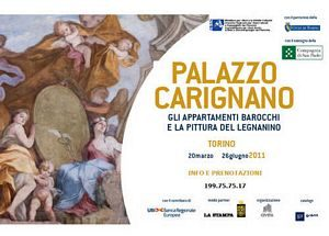 Locandina mostra di pittura di Legnanino a Palazzo Carignano Torino