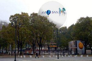 Mongolfiera panoramica di Torino in piazza Borgo Dora