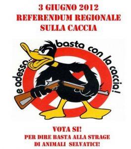 Referendum sulla Caccia in Piemonte, 3 Giugno 2012