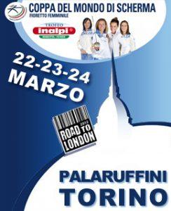 Coppa del mondo di scherma 2013, fioretto femminile, al Palaruffini di Torino