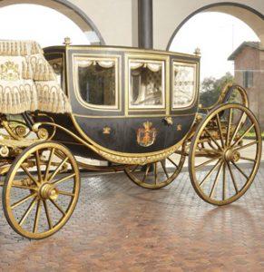 Mostra delle carrozze reali alla Reggia di Venaria Reale