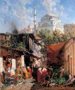 Alberto Pasini dipinto Mercato orientale
