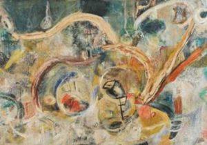 dipinto La Notte barbara di Pinot Gallizio