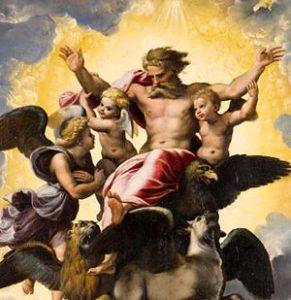 Dipinto di Raffaello, Visione di ezechiele, esposto alla Reggia di Venaria