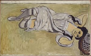 Dipinto di Matisse Lorette con tazza di caffè 1917 Olio su tela