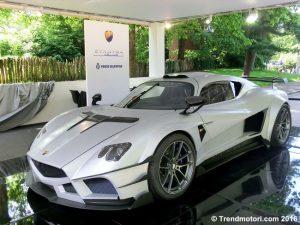 Hypercar in esposizione al Salone dell'Auto di Torino al Parco Valentino